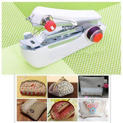 Mini HandHeld Portable Cordless Clothes Fabrics Sewing Machine Stitch Craft