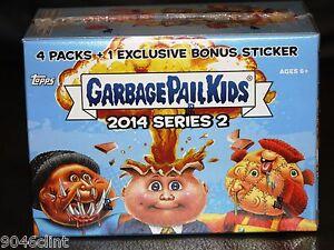 GARBAGE-PAIL-KIDS-2014-SERIES-2-SEALED-BONUS-BOX-W-BONUS-CARD-RARE-GPK-1ST
