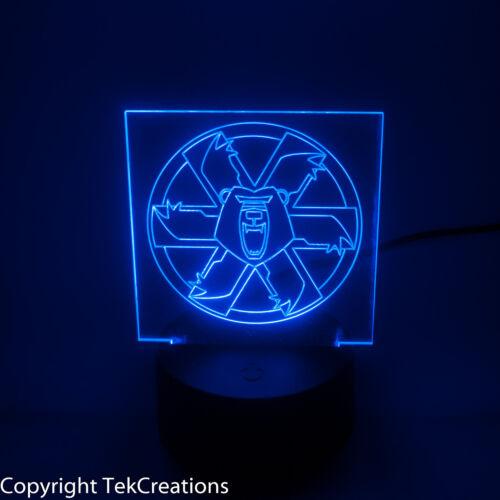 Edge Lit Battletech / Mechwarrior logo with LED lamp