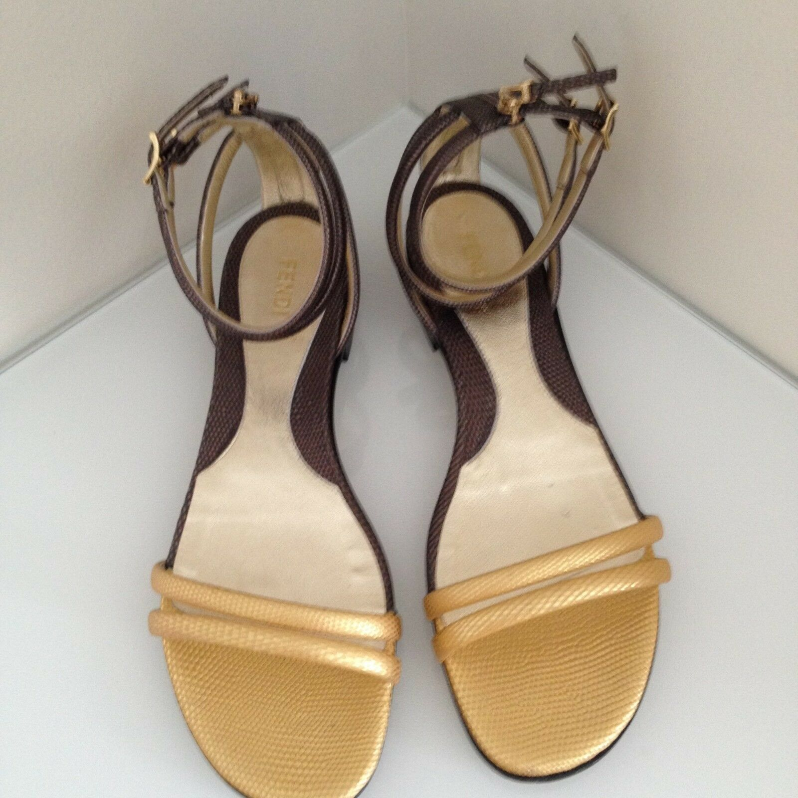 Gentleman/Lady fendi gold and charcoal sandals  38.5 sell sell 38.5 Year-end sale Great choice 5ef22b