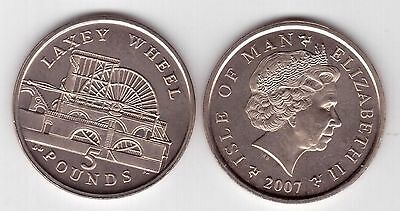 ISLE OF MAN 50 PENCE UNC COIN 2007 YEAR KM#1258 MILNERS TOWER