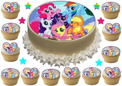 """My Little Pony Cake Toppers 15 x 2/""""  Cupcake PreCut Rice Paper or Icing"""