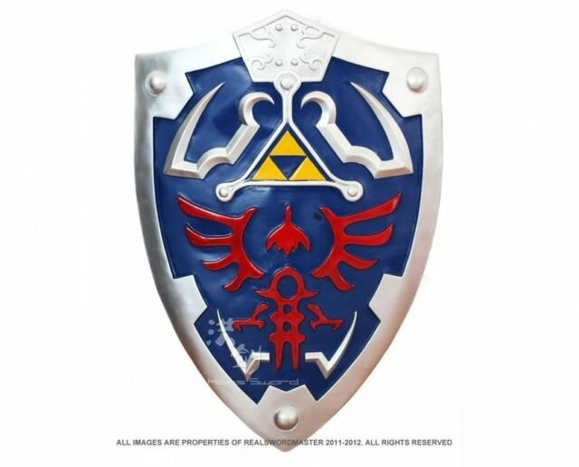 1 1 Full Size Link S Hylian Shield From The Legend Of Zelda With Arm Holder For Sale Online Ebay