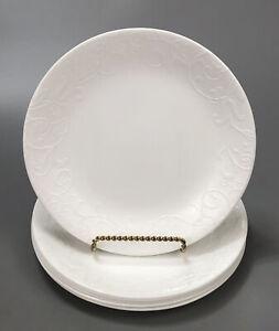 Set-of-6-Corelle-Corning-Bella-Faenza-White-Embossed-Salad-Lunch-Plates-1-AA
