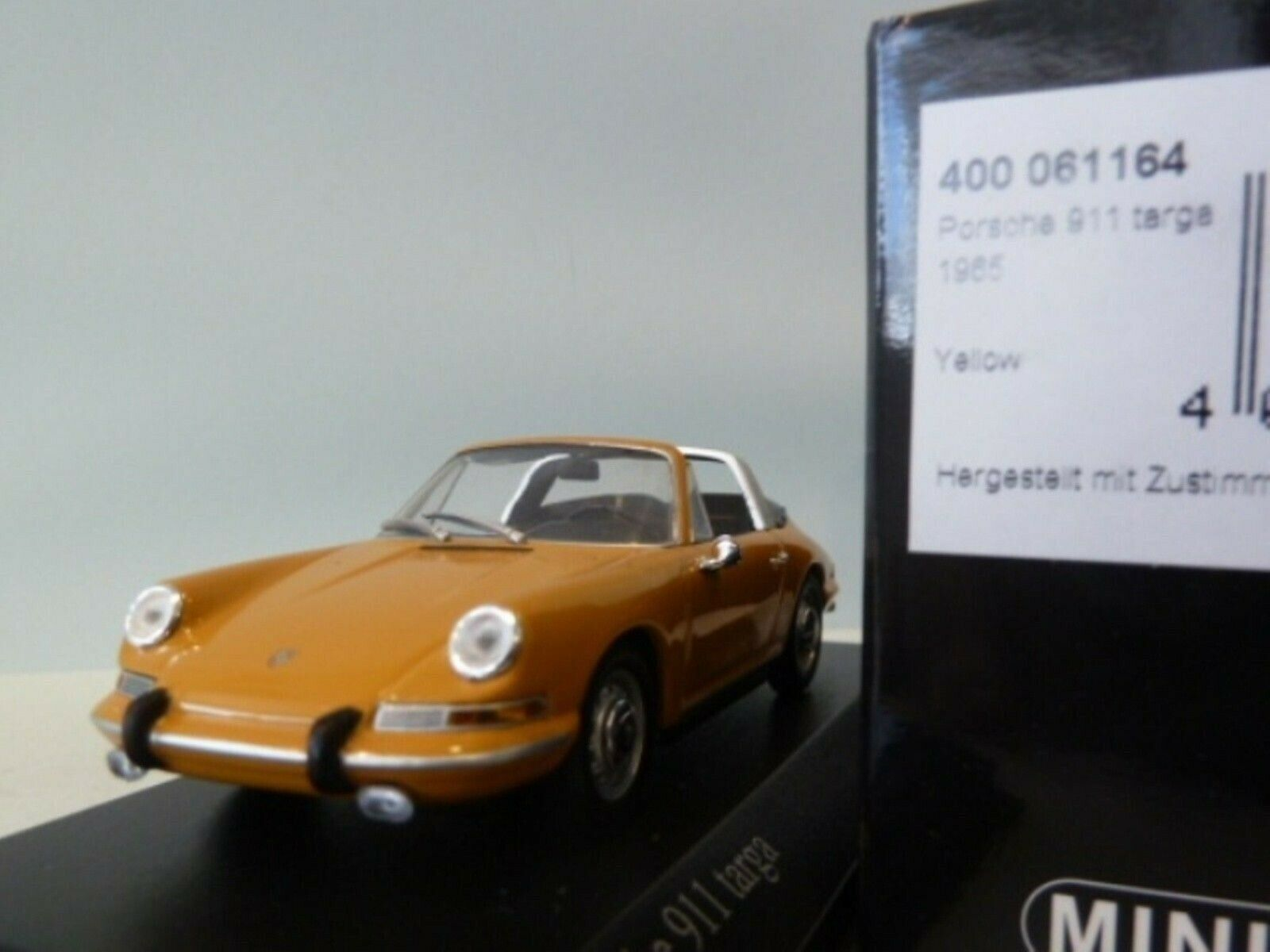 WOW EXTREMELY RARE Porsche 911 1965 Targa orange 1 43 Minichamps-356 RSR R S GT3