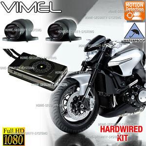 Motorbike Dual Camera Motorcycle Dash Car 1080p Waterproof