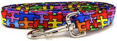 Autism Awareness Rainbow Puzzle Pet Dog Leash
