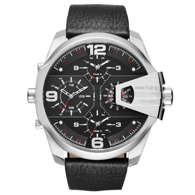 Diesel Analog Sport Uber Chief Black Mens DZ7376