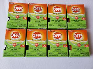 Lot Of 8 Botanicals Towelettes Plant Based Repellent Deet Free 80