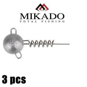 jig Mikado Jaws Corkscrew Heads screw in jig heads.predator,tackle,lure,rage