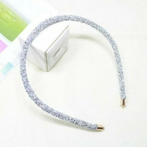 Details about  /Rhinestone Crystal Soft Headband Beads Hair Accessories Cute Hairband for Women
