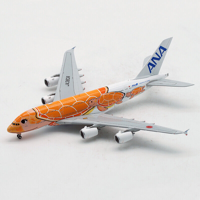 skala 1 400 All Nippon Airway A380 orange Turtle Alloy modellllerler plan flygagagplan leksaker