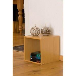 Beech-Legno-30cm-STORAGE-BOX-CUBO-lato-tabella-Armadio-Cassettiera-IMPILABILE-QUADRATA