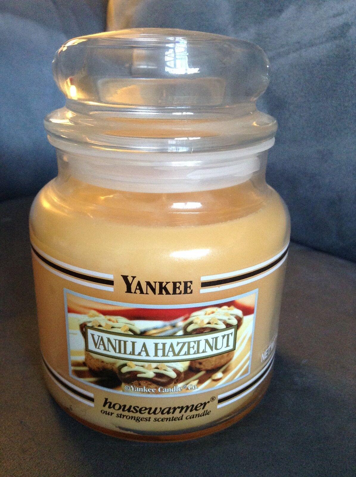 YANKEE CANDLE VANILLA HAZELNUT 14.5 OZ JAR - VERY RARE - BRAND NEW