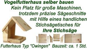 AuBergewohnlich Das Bild Wird Geladen Bauanleitung Bauplan Vogelhaus Futterhaus Zum Selber  Bauen Basteln