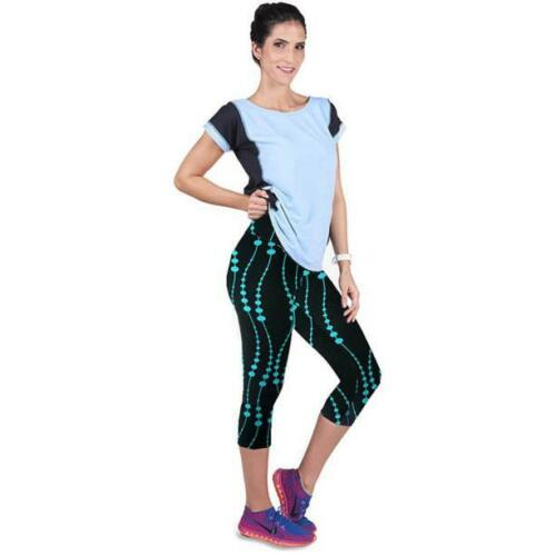 UK Womens Yoga Gym Pants Running Sports Leggings Fitness Cropped Stretch Trouser