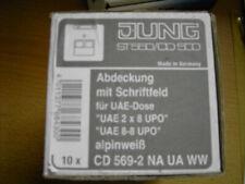 1x Jung Abdeckung für IAE//UAE-Anschlussdosen CD569-2NAUAWW Serie alpinweiß neu