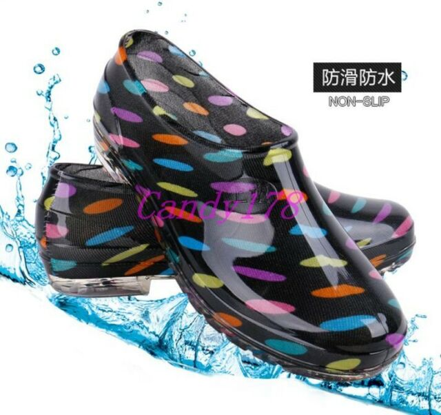 New Womens Girls Rain Boots Ankle Boots Breathable Waterproof Slip On shoes CA
