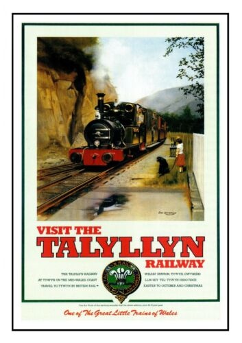 Talyllyn 1 Tywyn Wales Railway Vintage Old Picture Retro Poster A4 Print