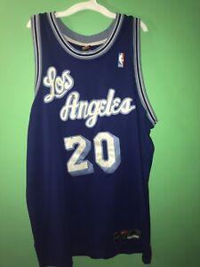 VTG RARE Nike NBA Los Angeles Lakers Authentic Blue Gary Payton ...