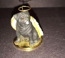 Miniature Pug Black Dog ANGEL Ornament Figurine Statue ONES