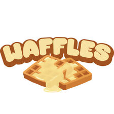 Waffles Concession Decal Sign Cart Trailer Stand Sticker Equipment