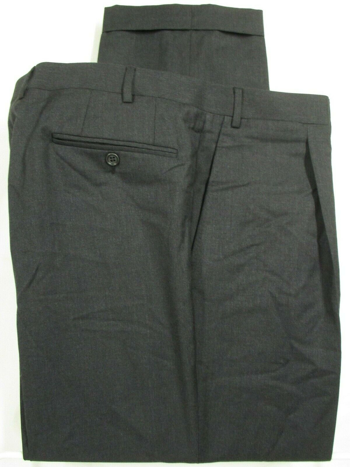 Canali 1934 Mens Charcoal Pleated Wool Dress Pants 38x28.5  Made