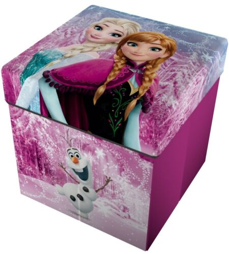 Frozen Elsa Anna Pouf Portaoggetti Pieghevole Sedia Scatola Contenitore Bambini