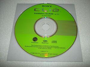 Sony Clie PEG-TJ27 Software Driver Installation CD-ROM