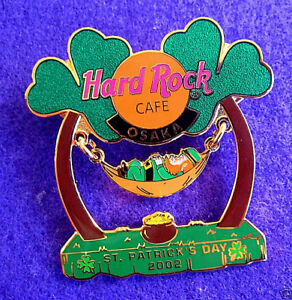 Osaka-st-PATRICK-039-S-Trebol-Palmas-Balanceo-Hamaca-Cadenas-Hard-Rock-Cafe-Broches