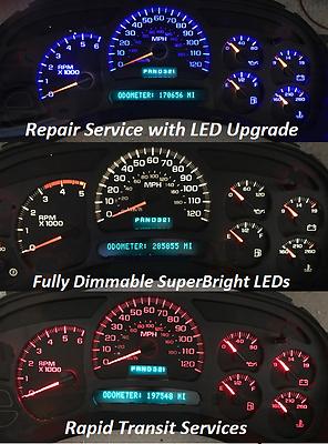 2003-06 Chevy Tahoe IPC Instrument Cluster Repair Speedometer **GAUGE REPAIR**