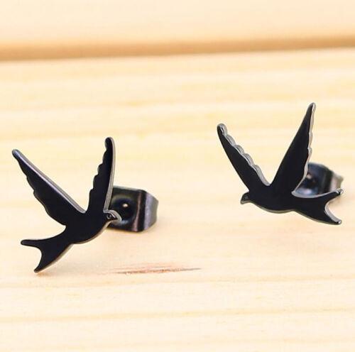Fashion Punk Stainless Steel Butterfly Guitar Scorpion Ear Stud Earrings Jewelry