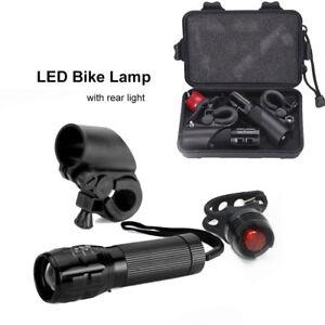 TORCIA-TATTICA-CREE-LED-Q5-7W-450-LUMENS-MAX-BICI-ZOOM-LUCI-Bicicletta-luce