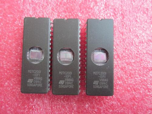 2PCS M27C2001-10F1 IC EPROM UV 2MBIT 120NS 32CDIP NEW