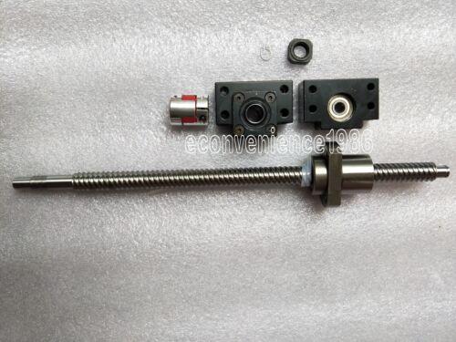 1x Antibacklash SFE1616--400 mm Ballscrew /& BF12//BK12 /&6.35*10mm Coupling