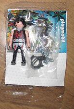 Playmobil Figure Warrior Soldier Agent Spy laser gun head band with glass shield