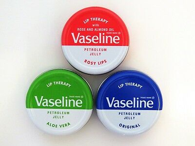 *Vaseline* Lip Balm Therapy Petroleum Jelly 20g Pocket Size Lip Balm Treatment