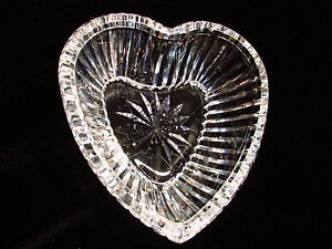 Trinket-Dish-Waterford-Crystal-Heart-Bowl-Brilliant-Shine-Signed-Quality-Piece