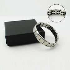Titanium Health Safety Bracelet Power Nano Energy Germanium Magnetic Balance Ion
