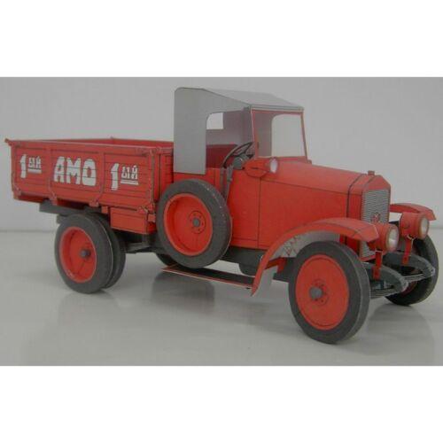 Details about  /OREL 008 Civilian cars Truck AMO F-15-1:25 scale paper model kit