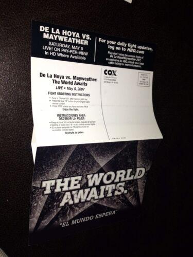 2x De La Hoya vs Mayweather Pop Up Mini PPV Ad Poster