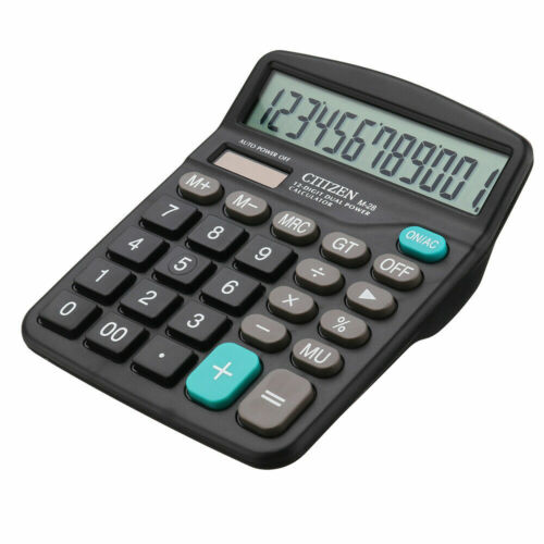 Solar Battery Desktop Calculator Basic 12-Digit Large Display Office Business *1