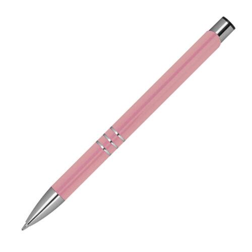 10 Kugelschreiber aus Metall Farbe rose/'