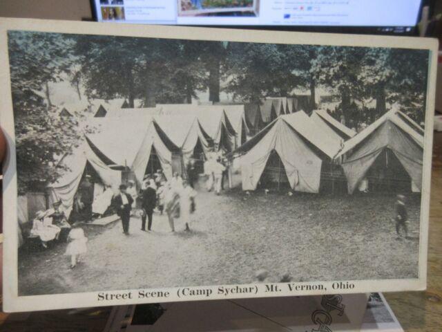 Vintage Old OHIO Postcard Mount Vernon Camp Sychar Church ...
