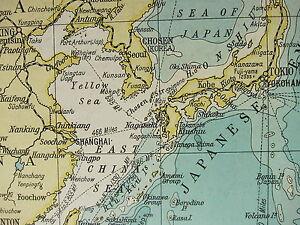 1919 LARGE MAP ~ INDIAN OCEAN AFRICA INDIA EAST INDIES AUSTRALIA ...