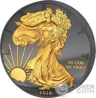 GOLDEN ENIGMA Walking Liberty Black Ruthenium 1 Oz Silver Coin 1$ US Mint 2016