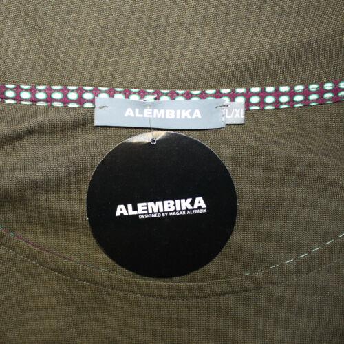 XL fits 1X 2X NWT Alembika Plus Top Dolman Sleeves Stretch Tunic Blouse Large