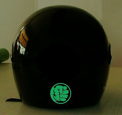 HULK  REFLECTIVE MOTORCYCLE HELMET DECAL.2 FOR 1 PRICE