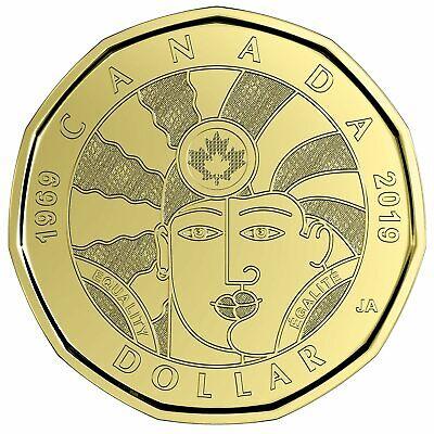 2019 Canada Equality Dollar $1 loonie BU from mint roll