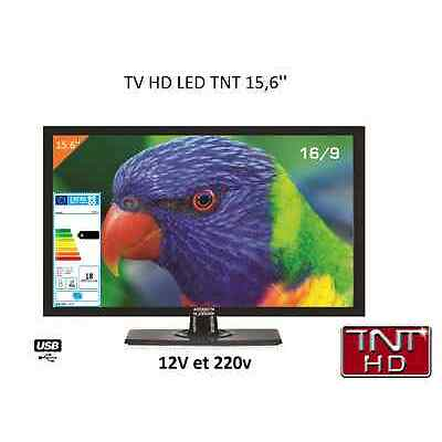 "TV LED 16"" TNT HD TNTHD 40cm + USB - CAMPING CAR - CAMION 12V 24V VOLTS"